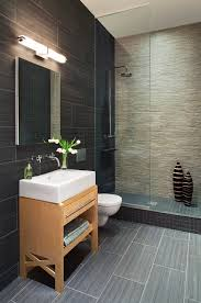 Tile For Bathroom Walls And Floor by Best Tile For Shower Floor Bathroom Contemporary With Accent Wall