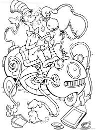 Opulent Design Ideas Cat In The Hat Coloring Page Pages