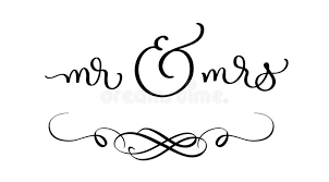 Download Mr And Mrs Text On White Background Hand Drawn Calligraphy Lettering Vector Illustration EPS10