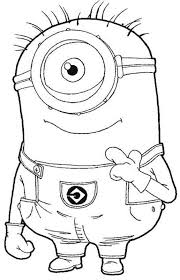 Download And Print One Eye Minion Despicable Me Coloring Pages