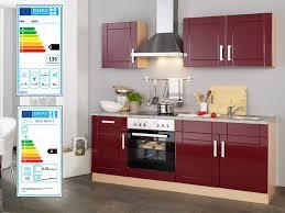 held küchenzeile varel b 210 cm mit elektrogeräten aus mdf selbstmontage