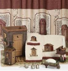 Outhouse Themed Bathroom Accessories by Outhouses Shower Curtain Foter