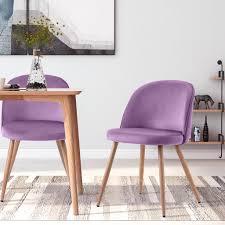 modernluxe 2er set esszimmerstühle samt stuhl polstersessel polsterstuhl farbeauswahl lila