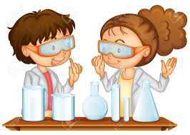 Illustration Two Students Working In A Science Lab Royalty Free