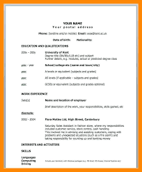 Sample 1 Page Resume One Templates