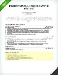Resume Templates Skills Laborer Section Samples Free Template Highlighting