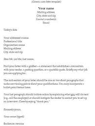 Resume Cover Letter Template Examples