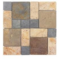 Jeffrey Court Mosaic Tile by Jeffrey Court Windswept 12 75 In X 12 375 In X 8 Mm Marble