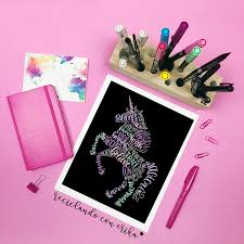 Cuadro Para Colorear Unicornio Y Mariposa Deko Shop