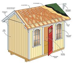 8 12 garden shed plans blueprints for spacious gable shed