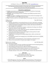 Job Resume Retail Manager Examples Store Sample For Position Management Gr Full Size