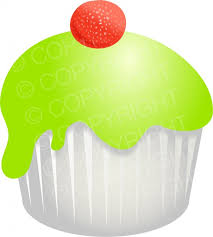 Sweet Candy Green Cupcake Clipart