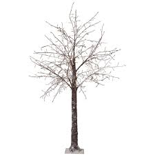 Pre Lit LED Snowy Brown Artificial Christmas Tree