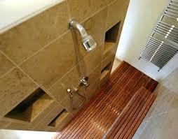 Marvelous Teak Bathroom Floor Nice Shower Insert Pictures Inspiration The Best Pertaining To Wooden