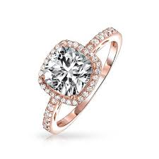 Vintage Style Sterling Silver Cushion Cut CZ Engagement Ring