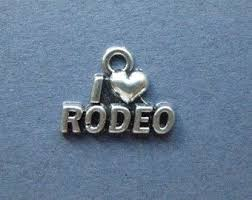 5 I Love Rodeo Charms