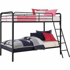 Bunk Beds At Walmart by Twin Over Twin Metal Bunk Bed With Mattresses Walmart Com