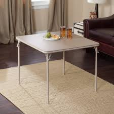 Details About Meco 34 In. Square Vinyl Folding Card Table