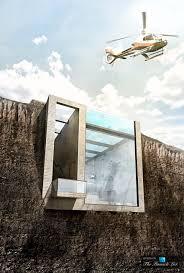 imagine living inside a cliff u2013 luxury home wedged cliffside