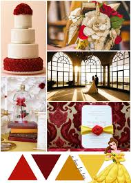 Red Gold And Yellow Beauty The Beast Wedding Theme A Hue