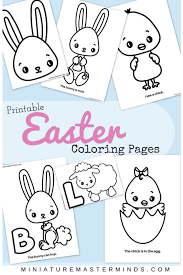 Printable Easter Coloring Pages Miniature Masterminds