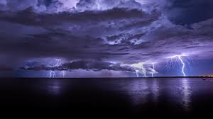 Monsoon Season Pacific Lightning Storm Cooke Point Port Hedland Australia Ocean Sky Water Nature Drama Night Awesome Twilight Sea Weather Auatralia Full HD