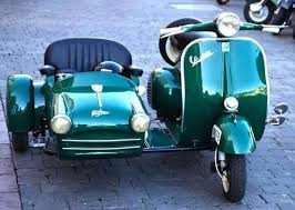 Looks Like An Early Vespa 125 With Adorable Faysan Sidecar