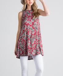 wine paisley swing tunic zulily