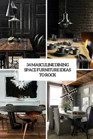 34 Masculine Dining Space Furniture Ideas To Rock