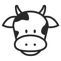 Cow Face Coloring Page