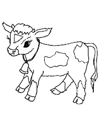 Pin Cow Clipart Coloring Page 4
