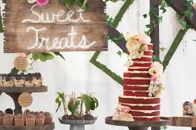 Rustic Earthy Bridal Shower Cake And Desserts
