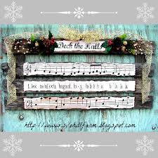 Deck The Halls Pallet Art For Christmas Decorations Seasonal Holiday Decor