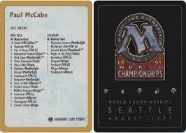 mtg world chionship decks 1997 decklist paul mccabe 1997 magic singles special editions