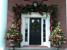 100 Outdoor Christmas Decorations Ideas To Make Use by Exterior Lovely Front Door Christmas Decor Ideas With Red Ribbon