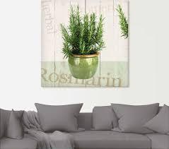 artland wandbild rosmarin pflanzen 1 st in vielen größen produktarten alubild outdoorbild für den außenbereich leinwandbild poster