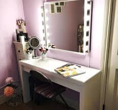 makeup desk with lights saratonin co