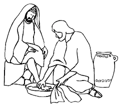 Jesus Washes The Disciples Coloring Page Home