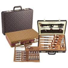 coffret couteau cuisine malette de 25 couteaux royalty line en inox ave achat vente