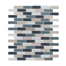 Jeffrey Court Mosaic Tile by Jeff Lewis Wilshire 11 7 8 In X 12 3 8 In X 5 Mm Glass Mosaic