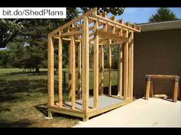 Free Plans For Building A Wood Storage Shed by How To Build A Lean To Style Storage Shed Youtube
