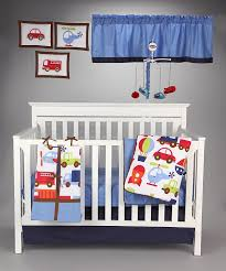 bacati transportation multicolor 10 piece crib set without