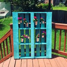1001pallets Diy Hanging Flowers Pallet Project
