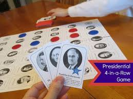 Relentlessly Fun Deceptively Educational Presidential 4 In A Row Board Game