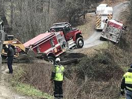 100 Fire Truck Pics Crews Remove Fire Truck Stuck In Creek After Bridge Collapse In