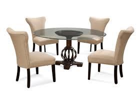 grenadine round glass 5 piece dining set with edison skirted