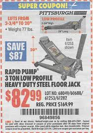 Harbor Freight 3 Ton Aluminum Floor Jack by Harbor Freight Coupon Thread Archive Page 20 The Garage