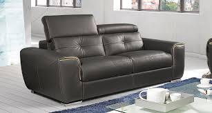 canapé cuir mobilier de grand canapé relax 3 places avec têtières relevables mobilier de