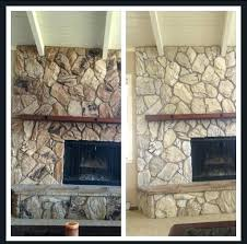 How To Paint A Stone Fireplace Paint Cast Stone Fireplace White