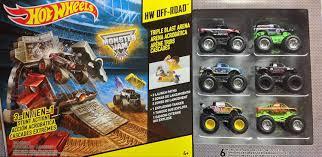 100 Monster Truck Mayhem Amazoncom Hot Wheels Jam Triple Blast Arena With 6
